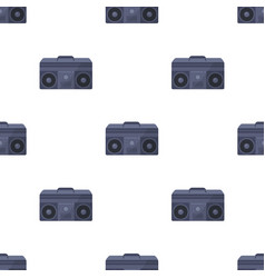 Boombox icon in cartoon style isolated on white vector