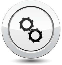 Button with Gear icon vector image vector image