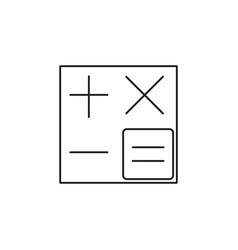 Calculator line icon accounting symbol vector