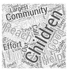 Children reaching children word cloud concept vector