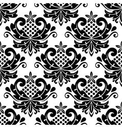 Classic damask seamless pattern vector