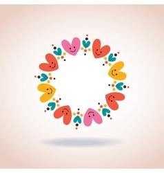 cute hearts circle love symbol sign icon concept vector image vector image