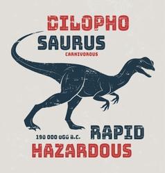 Dilophosaurus t-shirt design print typography labe vector image