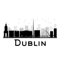 Dublin silhouette vector