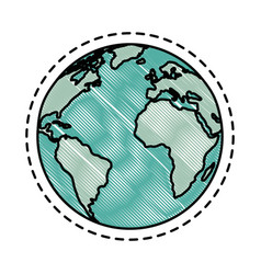 Earth planet icon vector