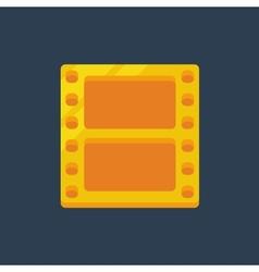 Flat golden film icon vector image