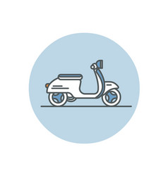 Flat icon of scooter vector
