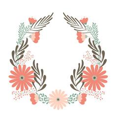 Flower wedding wreath ornament concept vector