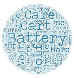 Golf cart batteries proper care and maintenance vector