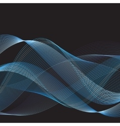 Graphic blue waves vector image vector image
