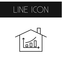isolated hut outline diagram element can vector image vector image