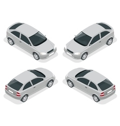 Isometric car Hatchback car Flat 3d high vector image vector image
