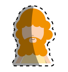 Man with blond beard peace and love vector