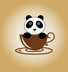 Panda logo coffee vector