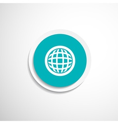 Planet icon network map earth business concept vector