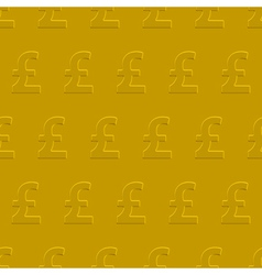 Pound sterling pattern vector