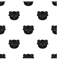 ram muzzle icon in black style isolated on white vector image vector image