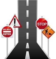 road signal design vector image