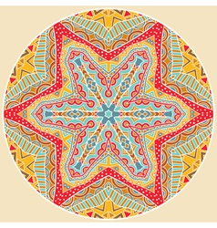 Round Tribal Pattern vector image