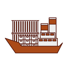 Sea transportation logistic freight shipping cargo vector