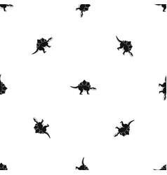 Stegosaurus dinosaur pattern seamless black vector