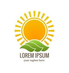 Sunset logo or emblem vector