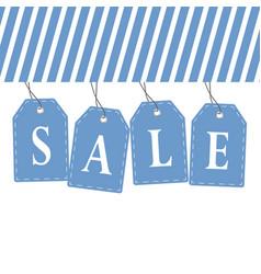 tag sale in blue color design vector image vector image