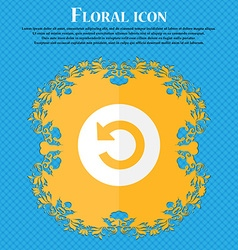 Upgrade arrow icon sign floral flat design on a vector
