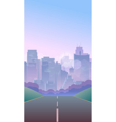 vertical city background vector image