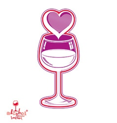 Wineglass 3d artistic vector