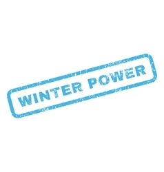 Winter Power Rubber Stamp vector image vector image