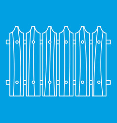 Wooden fence icon outline style vector
