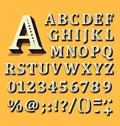 Yellow and white font on black background the vector