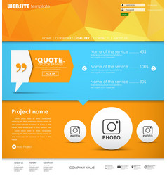 Template web site vector
