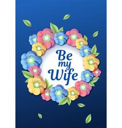 Wedding floral template wedding invitation vector