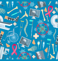 Medicine surgery health seamless pattern vector