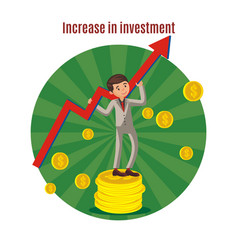 Business investment template vector