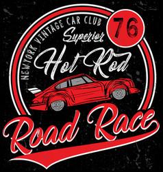 Retro car vintage car sport car vector
