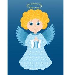 Christmas angel prays vector image