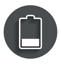 Battery low level sign icon electricity symbol vector