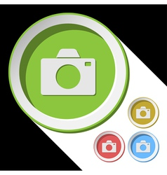 Color icons with camera vector