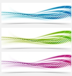 Modern abstract swoosh smooth vivid dotted line vector