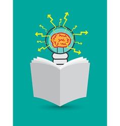 lightbulb reading newspaper vector image