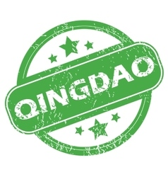 Qingdao green stamp vector