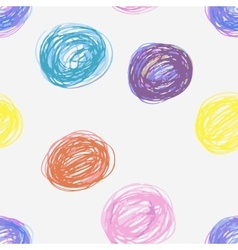 Doodle seamless pencil scribble pattern vector