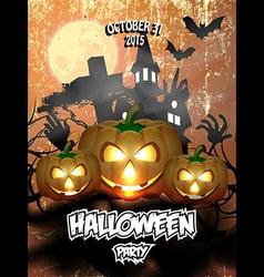 Halloween party flyer 2 vector