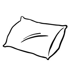 Black and white pillow vector