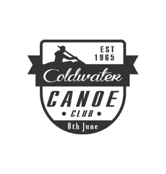 Canoe club emblem design vector