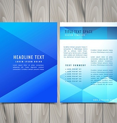 Abstract polygonal brochure flyer design template vector