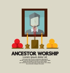 Ancestor worship vector